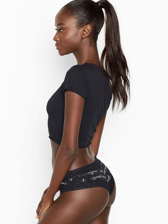 Victoria's Secret pohodlné brazilské kalhotky Lace-waist Cheeky