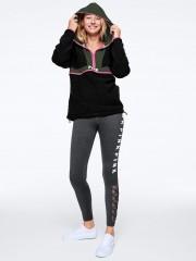 Victorias Secret PINK šedé sportovní legíny se šněrováním