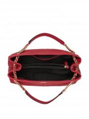 Victorias Secret tmavě červená kabelka se zlatými detaily