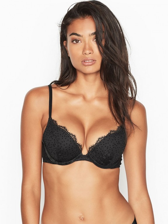 Victoria's Secret luxusní krajková PUSH-UP podprsenka Dream Angels Push-Up Bra