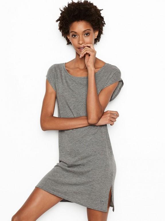 Victoria's Secret noční košile Scoopneck Sleepshirt šedá