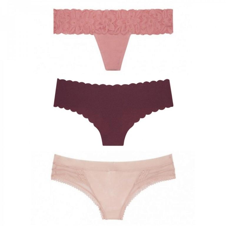 Victoria's Secret cenově zvýhodněný set tangových kalhotek vel. S