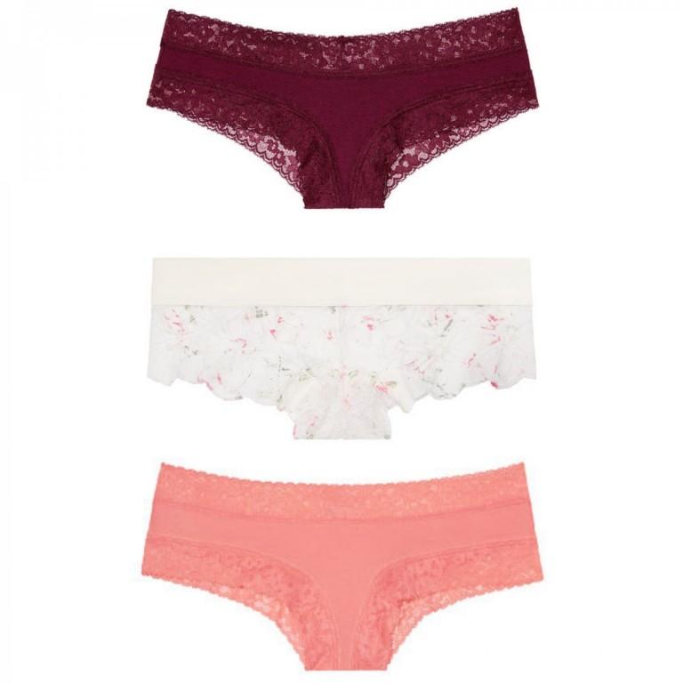 Victoria's Secret cenově výhodný set brazilských kalhotek vel. S