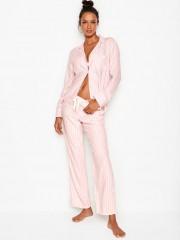 Victorias Secret flanelové proužkované pyžamo