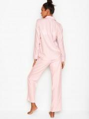 Victorias Secret flanelové pyžamo proužkované