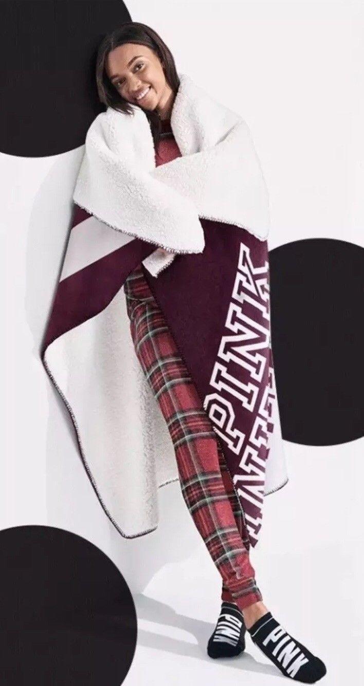 Victoria s Secret PINK hřejivá deka Soft Sherpa Blanket  1dfe02188f