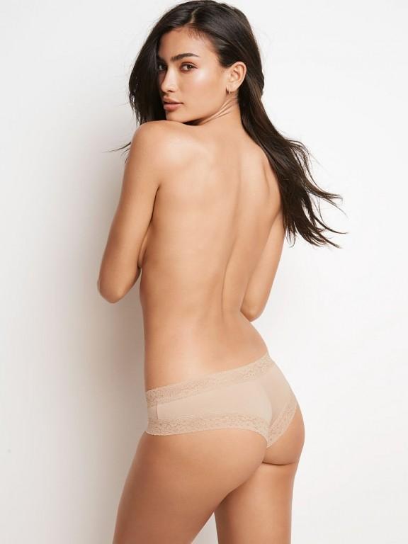 Victoria's Secret pohodlné tělové brazilské kalhotky Lace-waist Cheeky