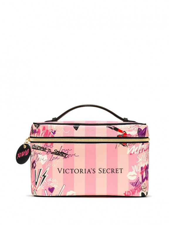 Victoria's Secret duo kosmetických taštiček Graffiti Weekender Train Case