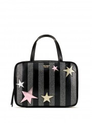 Victorias Secret pruhovaný kosmetický kufřík