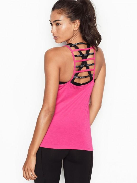 Victoria's Secret růžové sportovní tílko Strappy-back Tank