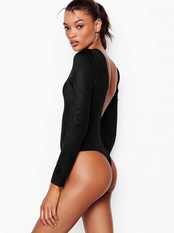Victoria's Secret luxusní černé body Scoop Bodysuit