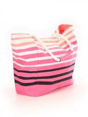 Barevná prostorná pruhovaná taška