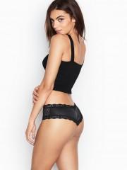 Černé luxusní kalhotky Victorias Secret v brazilském střihu