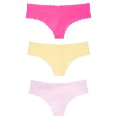 Victorias Secret trojbalení barevných bezešvých tang