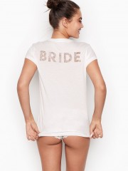 Victorias Secret bílé triko pro nevěsty