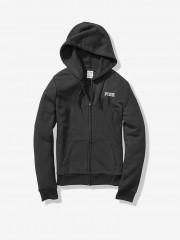 Victorias Secret PINK černá mikina na zip s kapucí