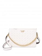 Bílá luxusní kabelka se zlatými detaily Victorias Secret