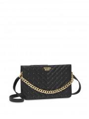 Černá luxusní kabelka se zlatými detaily
