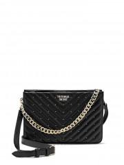 Victorias Secret černá luxusní kabelka a psaníčko 2 v 1