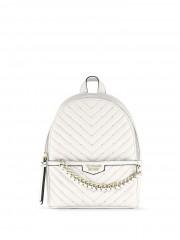 Victorias Secret malý bílý batůžek se zlatými detaily