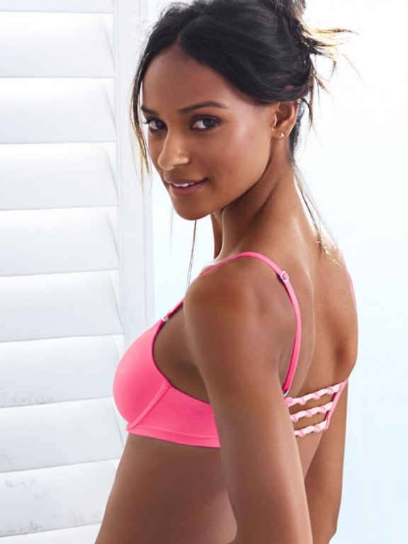 Jemná růžová podprsenka Sexy Tee Front-Close Demi Bra