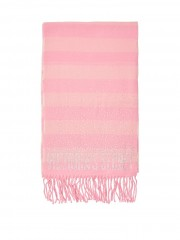 Růžová pruhovaná šála