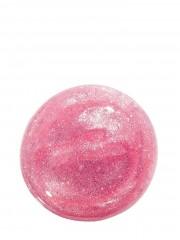 Růžový odstín oleje na rty s jemnými třpytkami