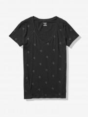 Černé triko s drobným potiskem