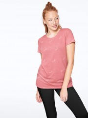 Victorias Secret PINK růžové triko s nápisy