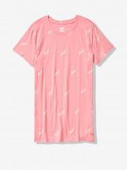 Pohodlné růžové triko s nápisy PINK