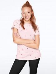 Victorias Secret PINK světle růžové bavlněné triko