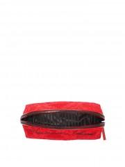 Červená kosmetická taška na zip