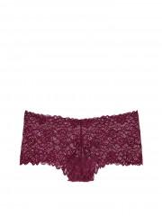 Victorias Secret luxusní krajkové vínové kalhotky šortky