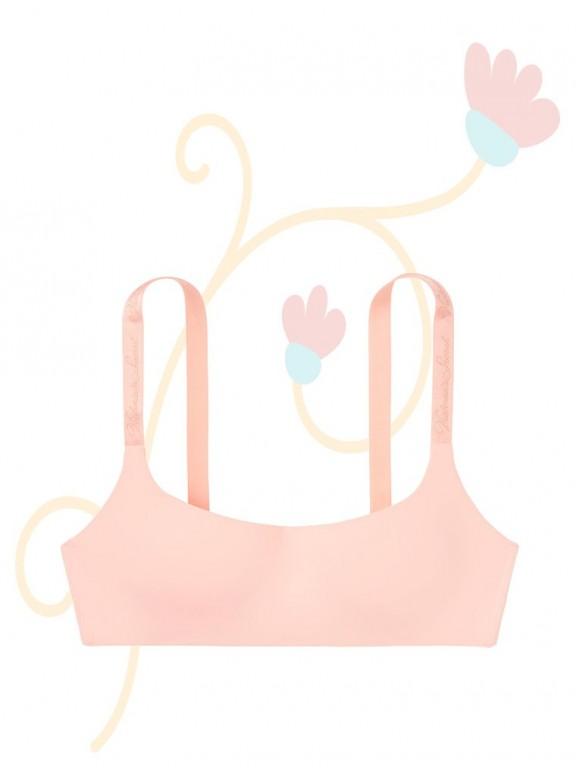 Victoria's Secret růžová podprsenka bez kostic Wireless Scoop Neckline Bra