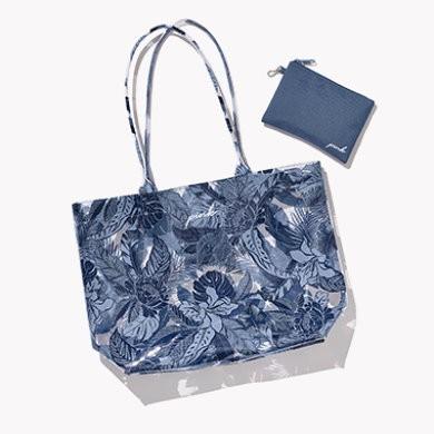 Victoria's Secret plážová taška Blue Floral Beach Tote