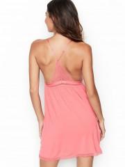 Pohodlná růžová noční košilka VS