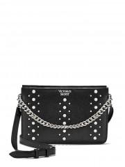 Victorias Secret černá kabelka s kovovými detaily